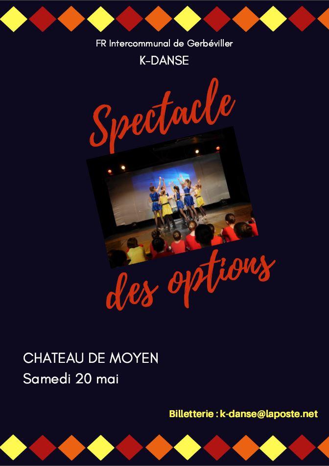 K-danse Spectacle les options